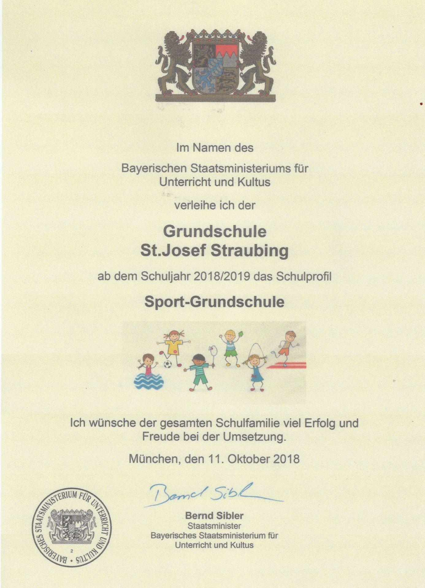 Sport-Grundschule St. Josef in Straubing